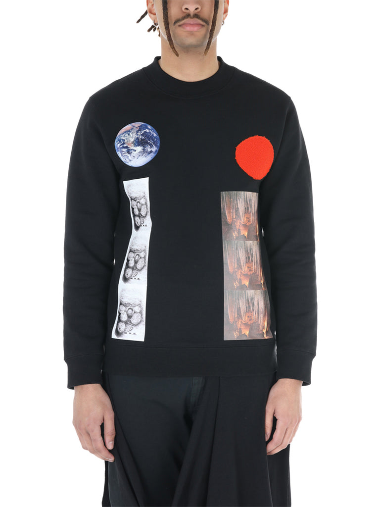Raf Simons Sterling Ruby Patch Sweater