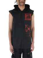 Raf Simons Sleeveless Hooded Shirt