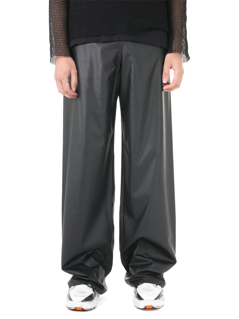 Raf Simons Faux Leather Track Pants