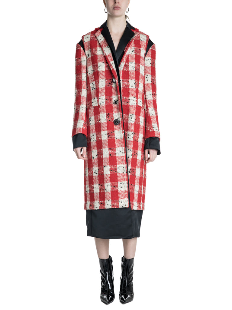 Marni Buffalo Check Tweed Coat