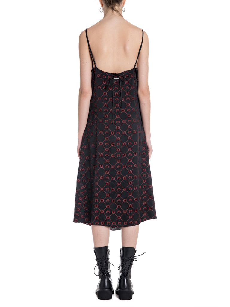 Marine Serre Moon Embroidered Slip Dress