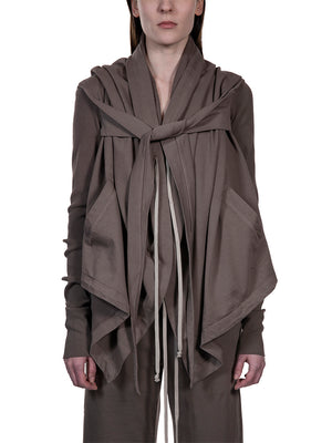 Rick Owens DRKSHDW Cropped Hooded Wrap