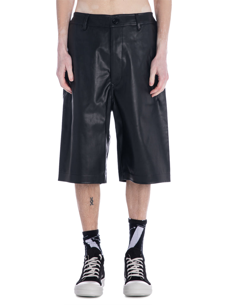 Rick Owens DRKSHDW Vegan Leather Shorts