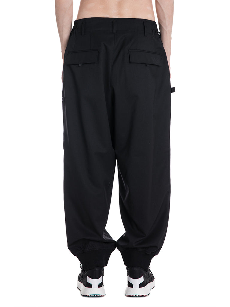 Y-3 By Yohji Yamamoto Baggy Tailored Wool Trousers
