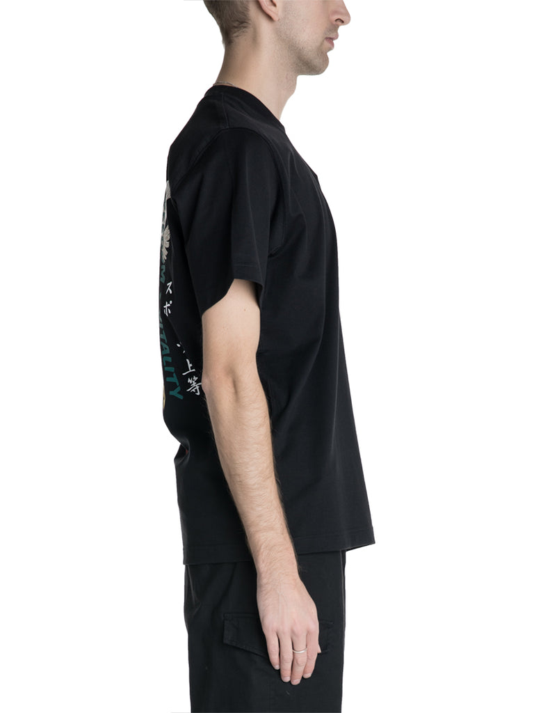 Y-3 By Yohji Yamamoto Freedom Multicolor Embroidered Tee