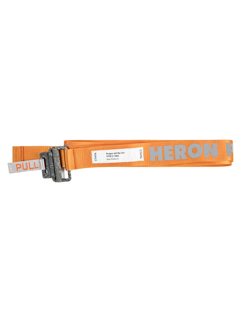 Heron Preston Orange Reflective Classic Belt