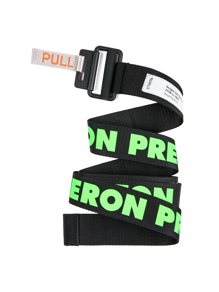 Heron Preston Black and Green Classic Belt