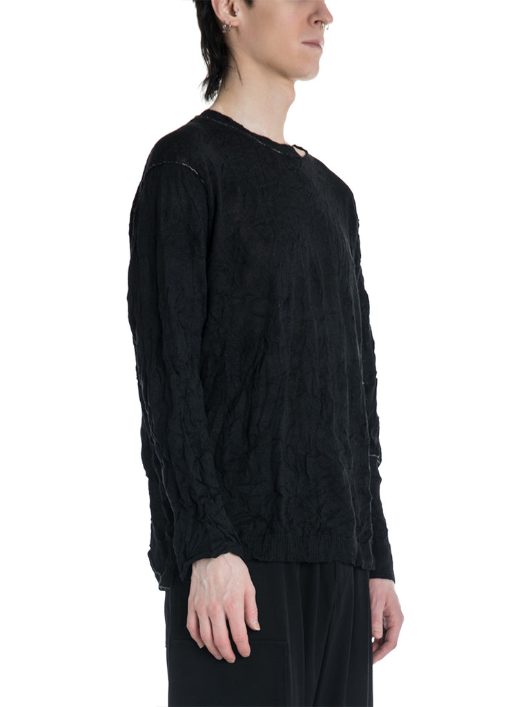 Yohji Yamamoto Pour Homme Wrinkled Knit