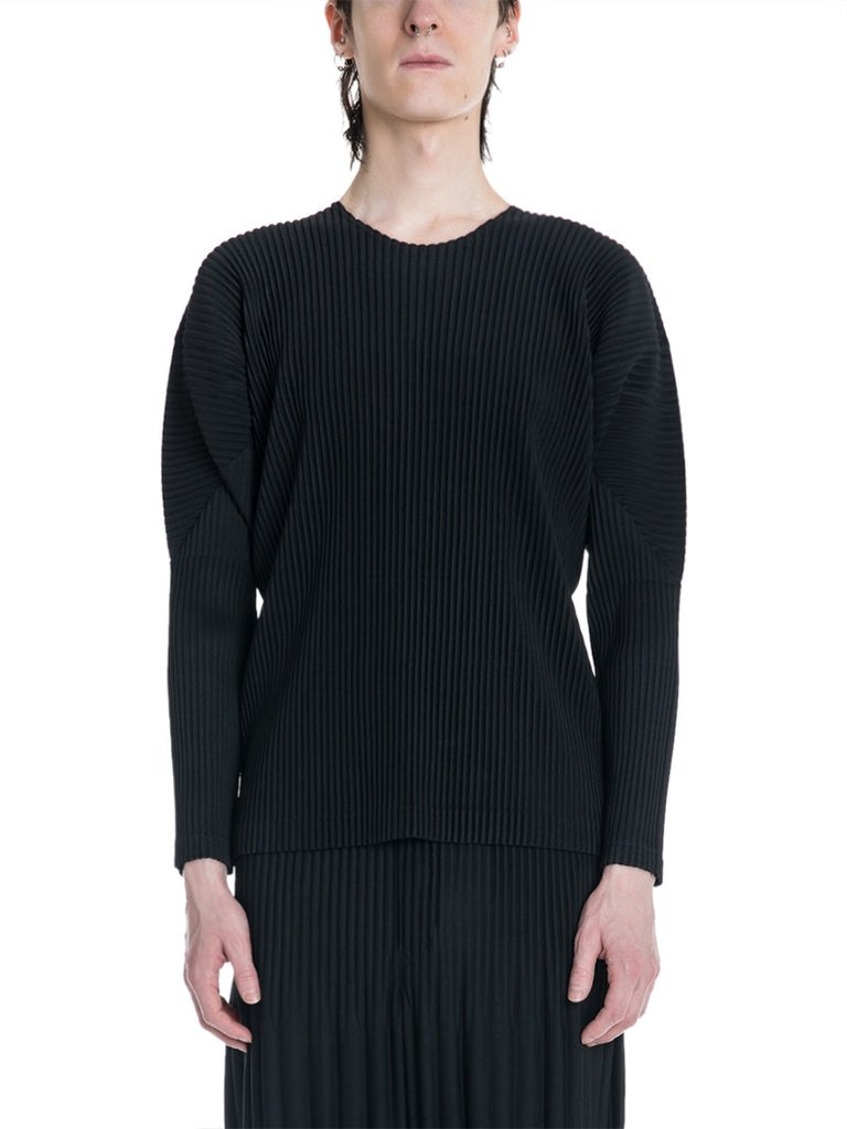 Issey Miyake Homme Plissé Pleated Long Sleeve Shirt