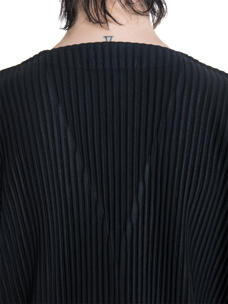 Issey Miyake Homme Plissé Pleated Long Sleeve Cardigan