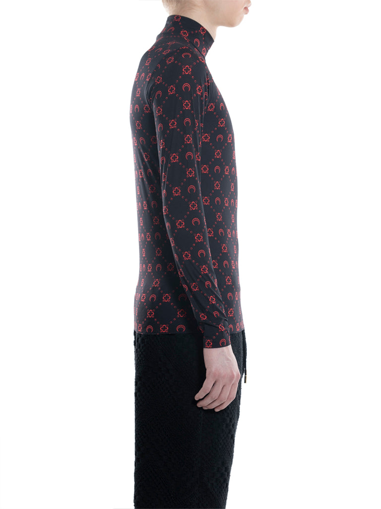 Marine Serre Second-Skin Turtleneck