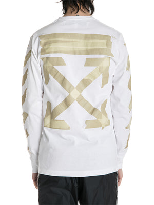 OFF-WHITE c/o Virgil Abloh Tape Arrows Long Sleeve Tee