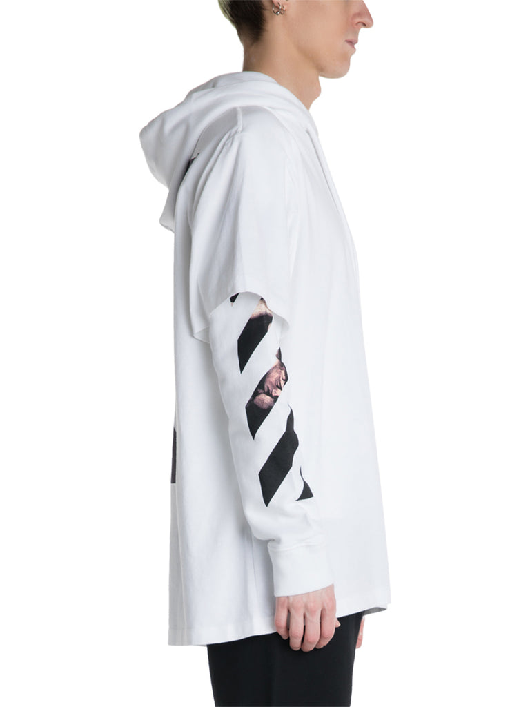 OFF-WHITE c/o Virgil Abloh Caravaggio Double Tee Hoodie