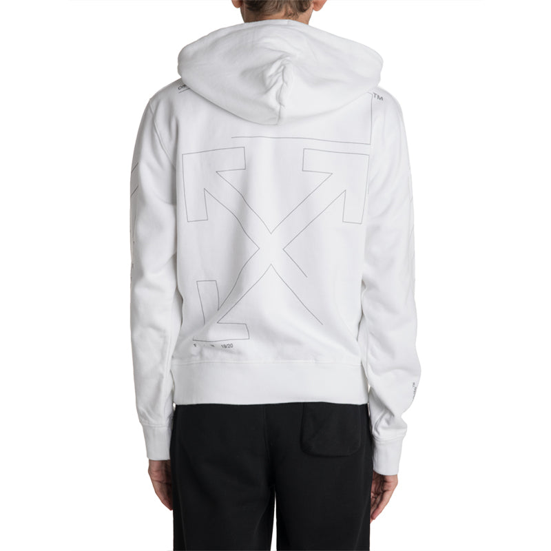 OFF-WHITE C/O VIRGIL ABLOH 19F/W Diag Unfinished Slim Hoodie