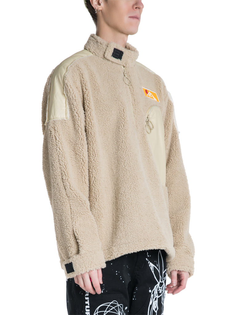 OFF-WHITE c/o Virgil Abloh Eco Fur Moto Pullover