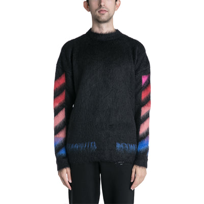 20a26dee OFF-WHITE C/O VIRGIL ABLOH 19F/W Diag Brushed Mohair Crewneck ...