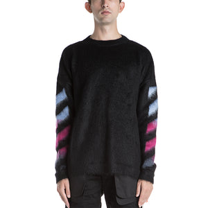 Off White Brushed Mohair Knitwear