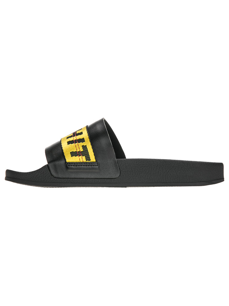 OFF-WHITE c/o Virgil Abloh Black Industrial Flip Flop
