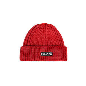 Off White Patch Beanie