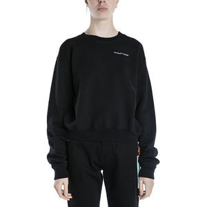 Off White Quotes Crop Crewneck