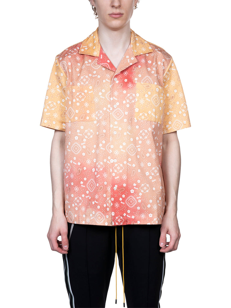 RHUDE Bandana Print Point Shirt