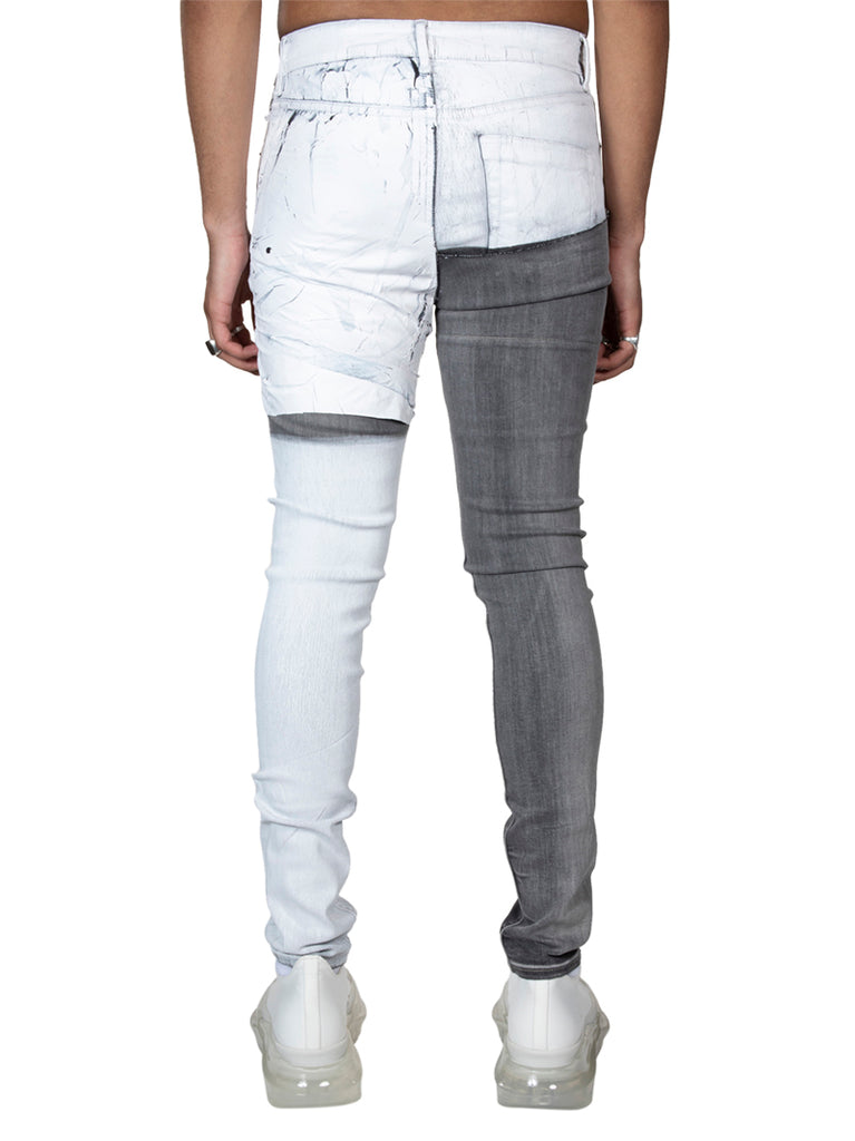Rick Owens Tecuatl Tyrone Collage Jeans