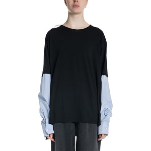 Maison Margiela MM6 19S/S Shirt with Striped Sleeves