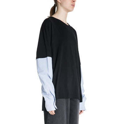 MM6 Maison Margiela 19S/S Shirt with Striped Sleeves