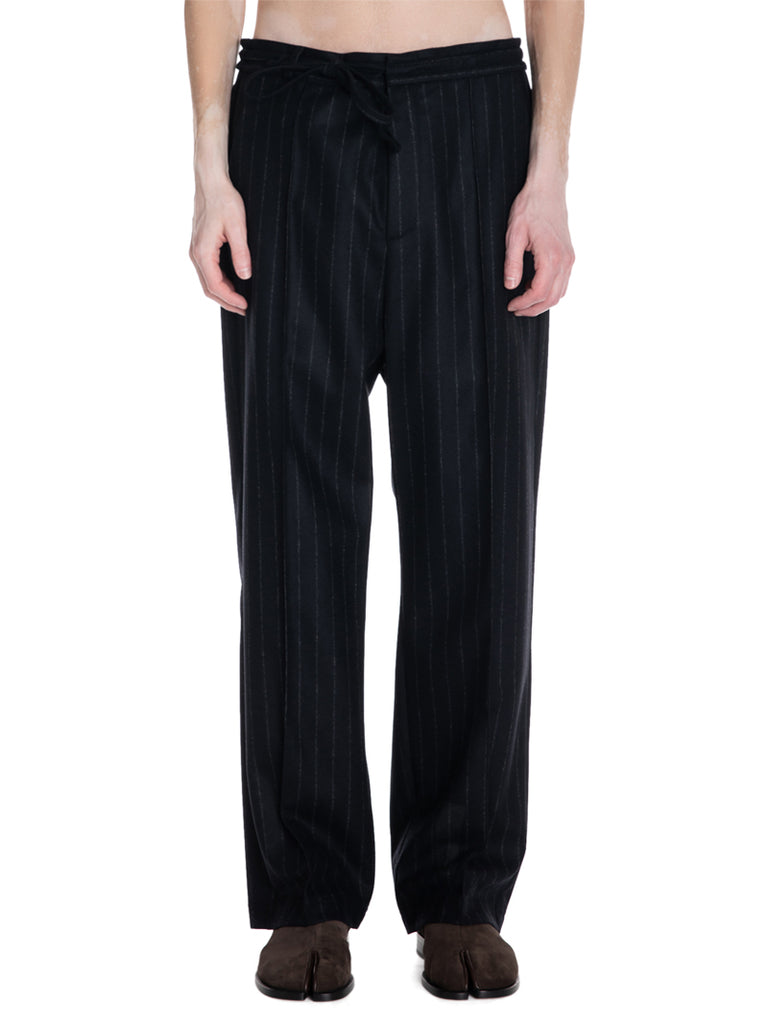 Maison Margiela Baggy Striped Wool Trousers