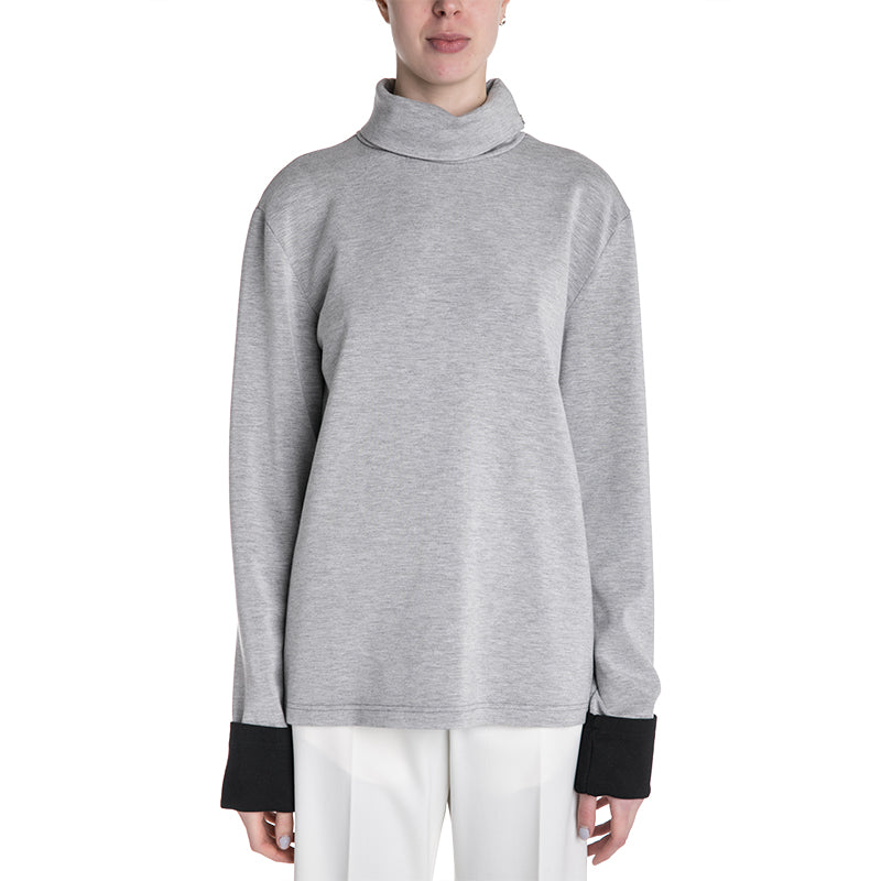 MM6 19S/S Contrast Sleeve Turtleneck