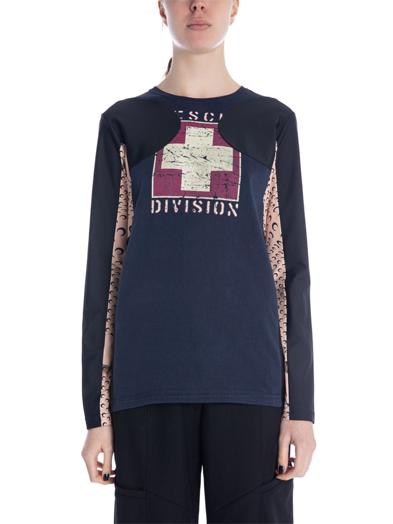 Marine Serre Regenerated Contrast Panel Long Sleeve