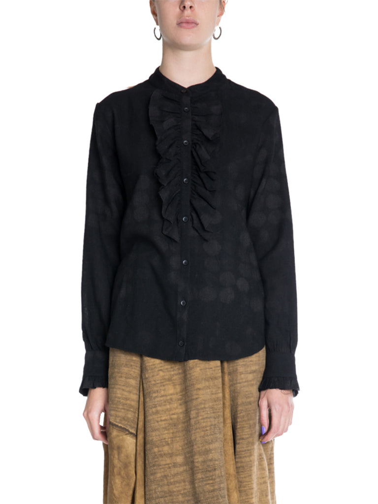 Uma Wang Taya Ruffled Button Up