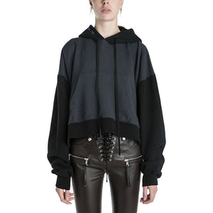 Unravel Project Terry Brushed Chopped Hoodie