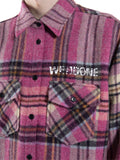 WE11DONE Checked Wool Shirt with Patches
