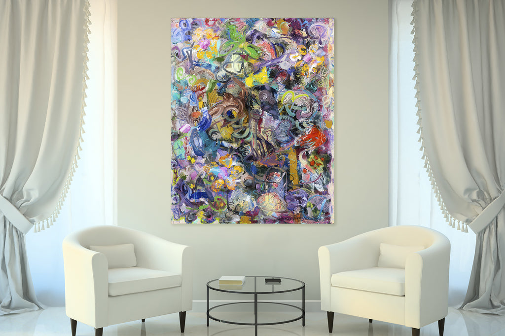 Abstract art in classic interior? Why not!