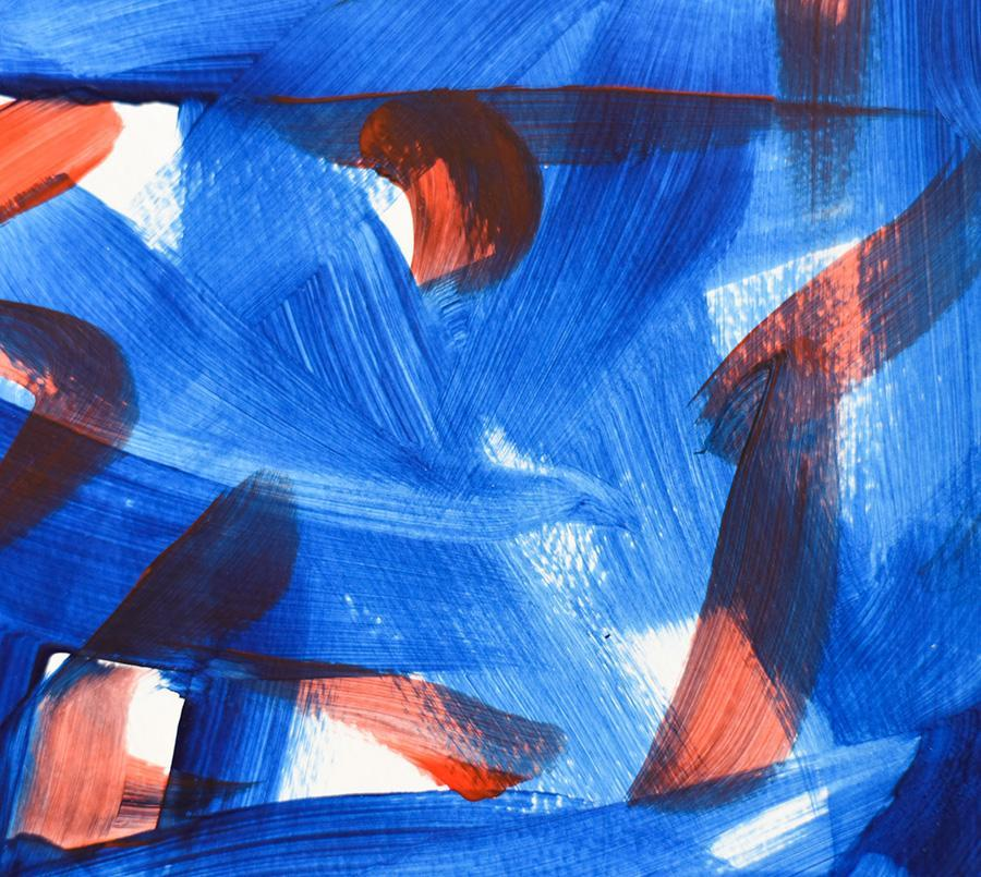 Abstract paintings on paper