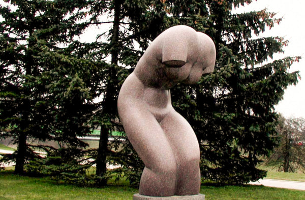 Outdoor torso sculpture
