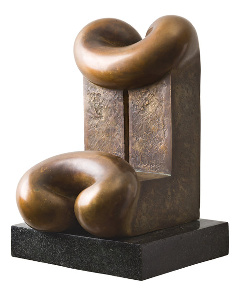 Biomorphic bronze sculpture art for sale