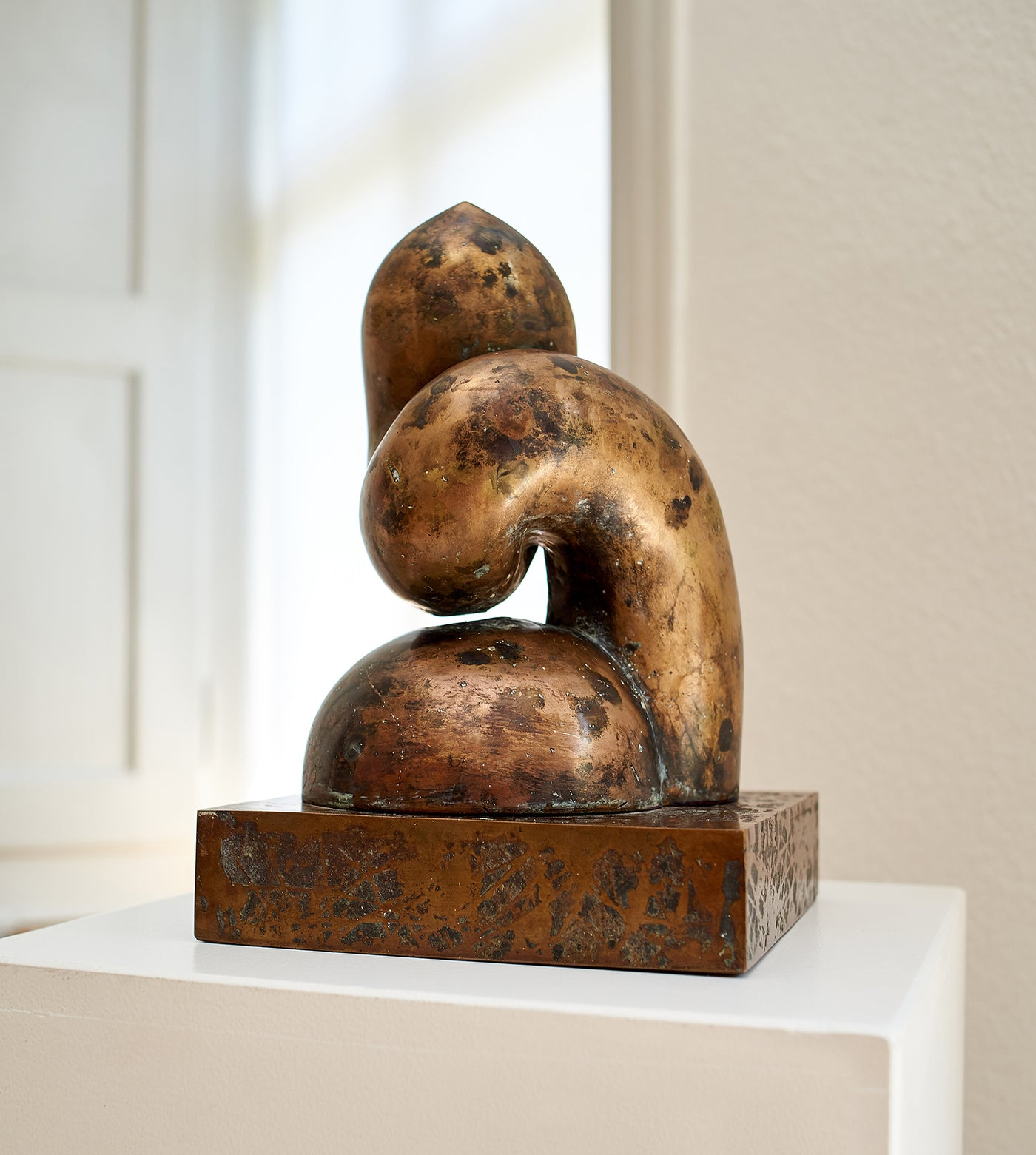 Biomorphic bronze sculpture for sale