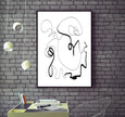 black and white abstract printable wall art