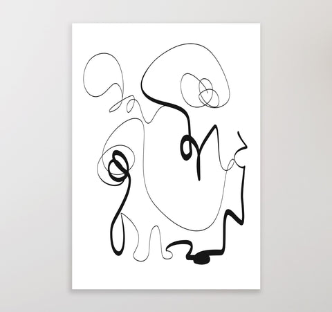 Black Line 1 | Printable Art