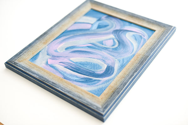Small framed abstract painting