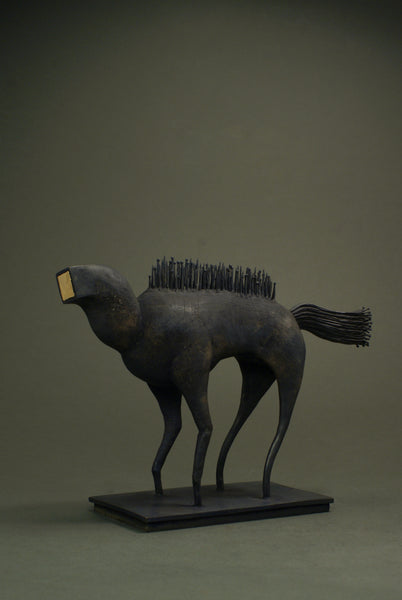 Contemporary Bronze horse sculpture