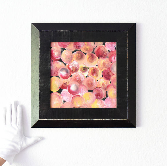 Colourful framed abstract painting