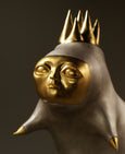 Bronze sculpture, crown