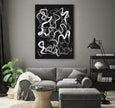 Printable abstract art in black and white