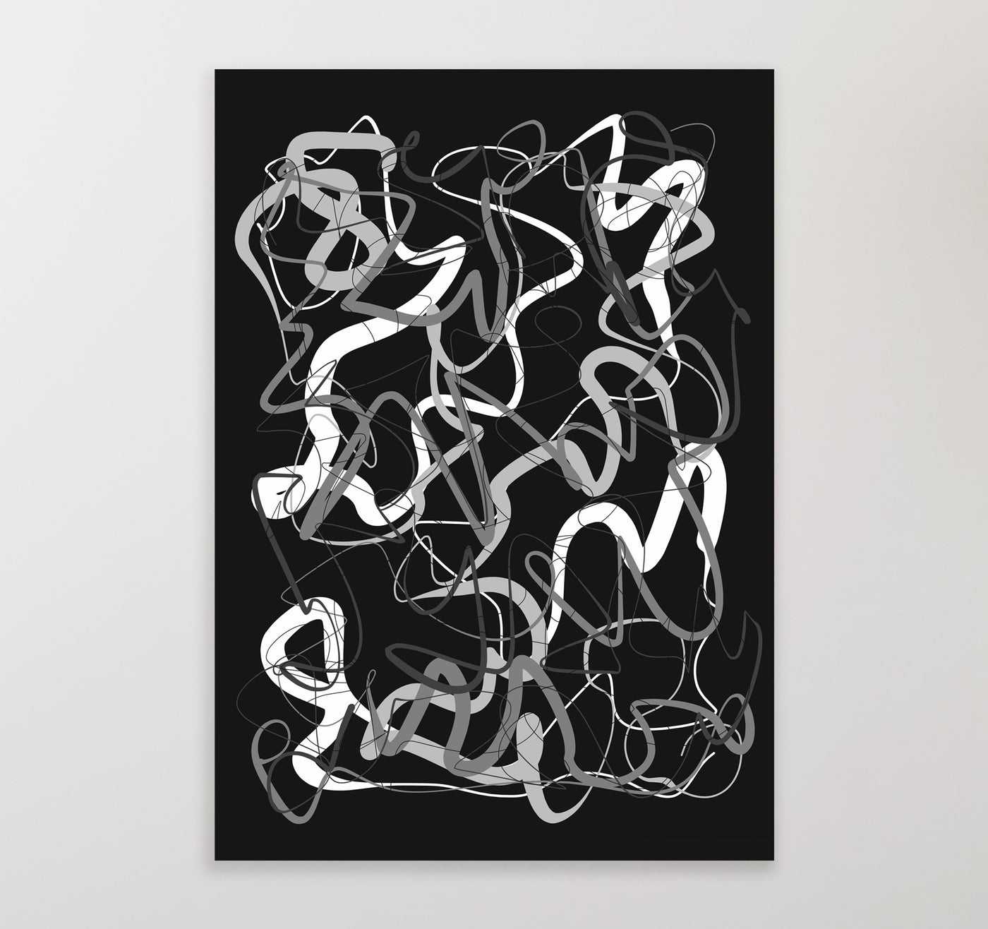Printable wall art  black and white abstract