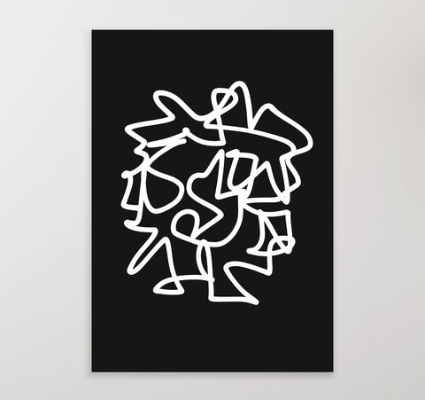 White on Black 1 | Printable Art