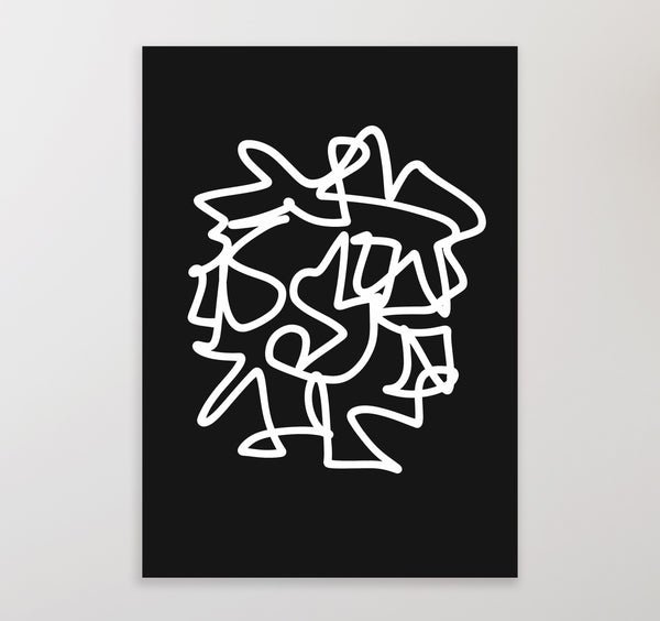 Black and white abstract printable art