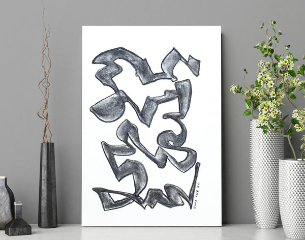Black and white abstract art for sale